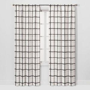 Light Filtering Plaid Curtain Panel